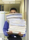 Man carrying documents