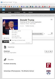 TrumpLinkedInSearch